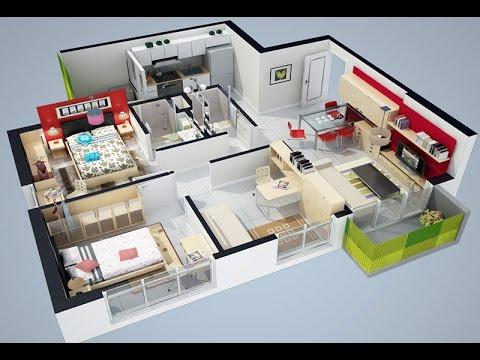 Planos arquitectonicos de casas en 3d youtube for Construye tu casa en 3d
