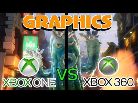 pvz garden warfare xbox one vs xbox 360 graphics comparison - Plants Vs Zombies Garden Warfare 2 Xbox 360