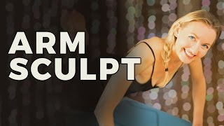 Yoga Sculpt Series 4/6: Yoga For Arms | No Weights Needed for this Arm Workout for Women