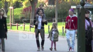 Red Hot Chili Pepper Anthony Kiedis and flea enjoying Paris with kids