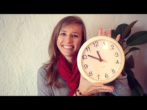 How to tell the TIME in German - Die Uhrzeit (part 1)
