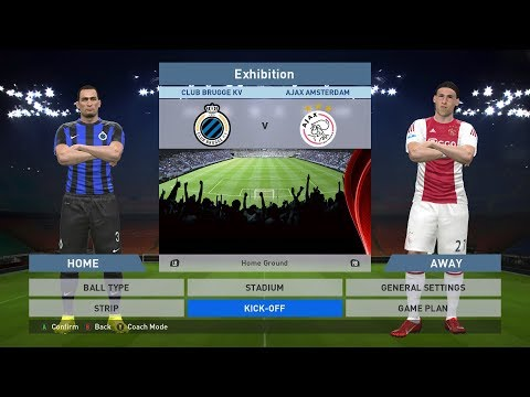 Club Brugge KV vs Ajax Amsterdam, Jan Breydel Stadion, PES 2016, PRO EVOLUTION SOCCER 2016