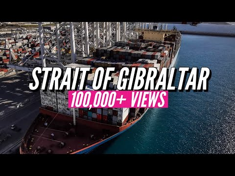 How Biggest Ship Crosses STRAIT OF GIBRALTAR in bad weather
