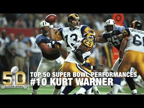 #10: Kurt Warner Super Bowl XXXIV Highlights | Rams vs. Titans | Top 50 SB Performances