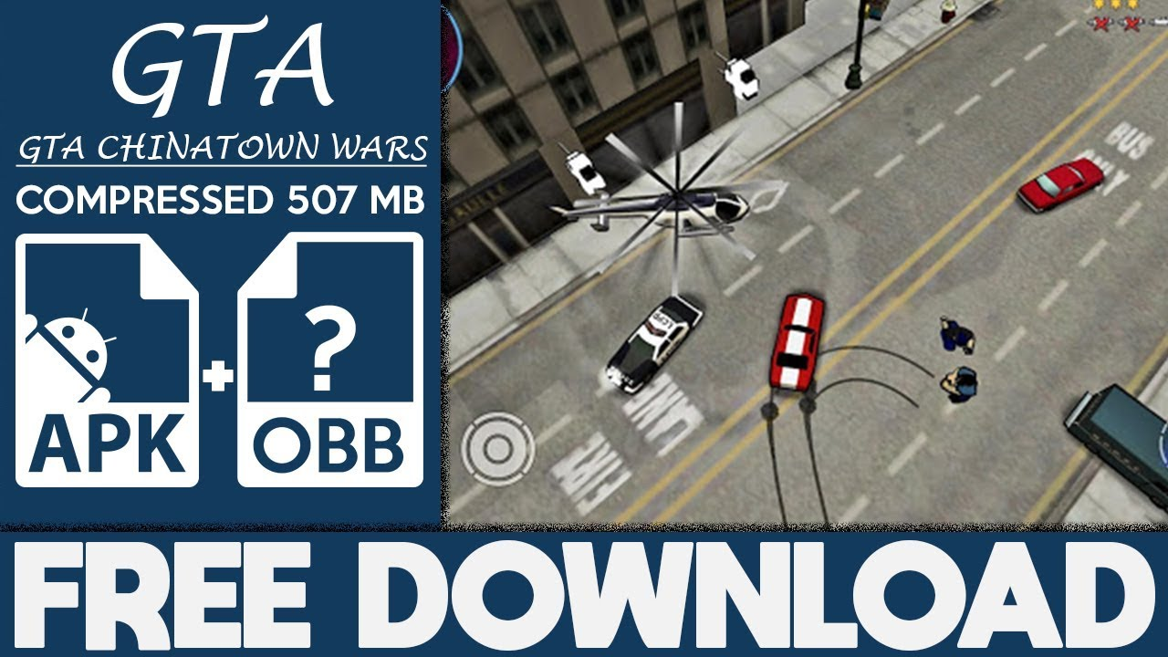 How To Download GTA: Chinatown Wars Apk Mod Data Free Full Game 2019  #Smartphone #Android