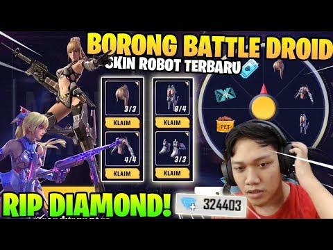 ABISIN DIAMOND! SPIN BATTLE DROID! SKIN ROBOT CANTIK TERBARU! - Garena Free Fire