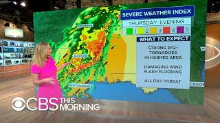 Severe weather headed towards southern Plains