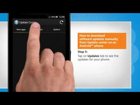 How To Download Software Updates Manually From Update Center On An Android™ Phone