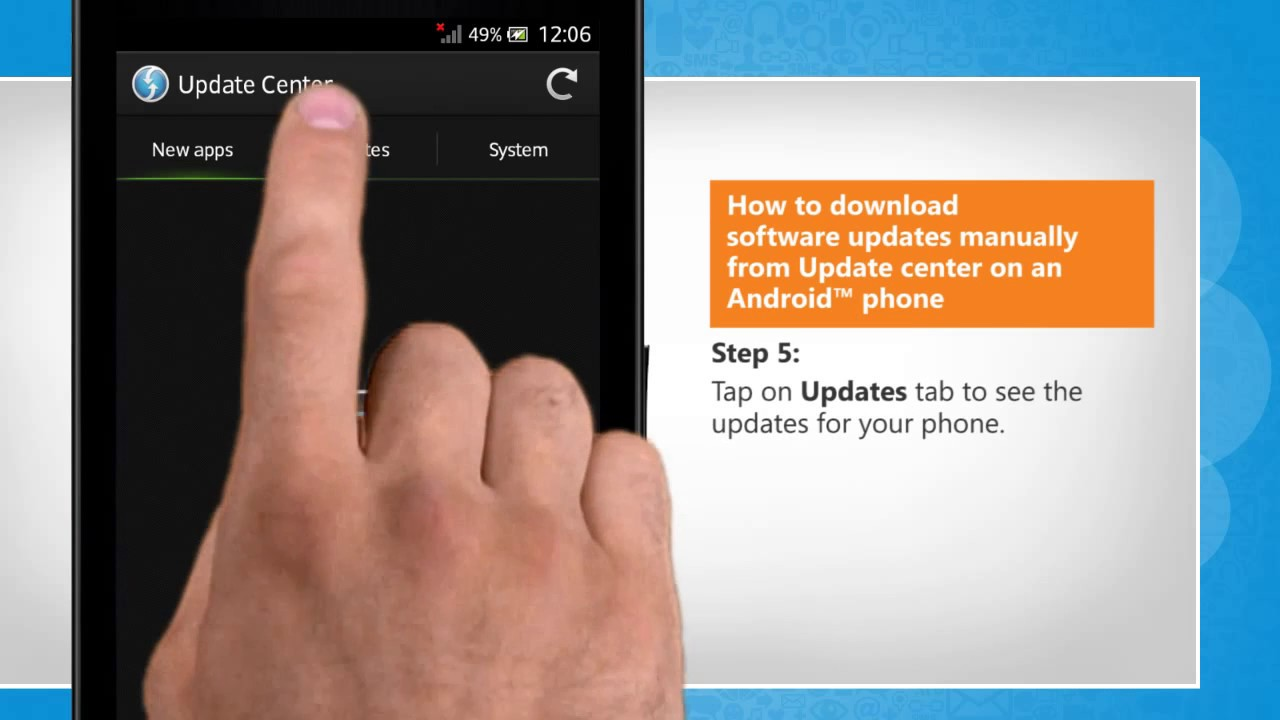 Phone Android Phone Software Update how to download software updates manually from update center on an phone