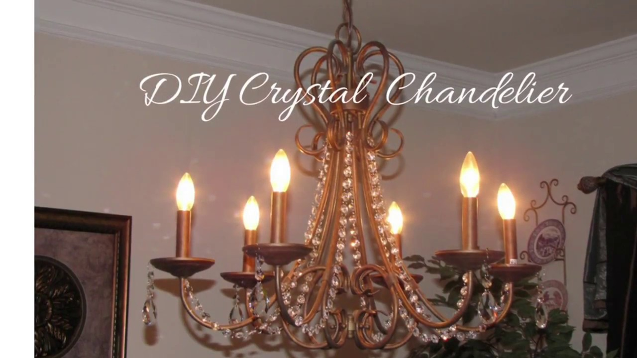 DIY Crystal Chandelier - YouTube