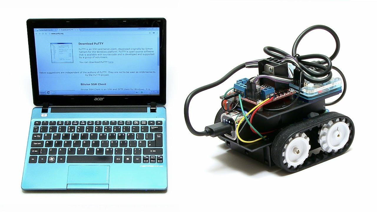 Raspberry Pi Robotics #4: SSH Network Control