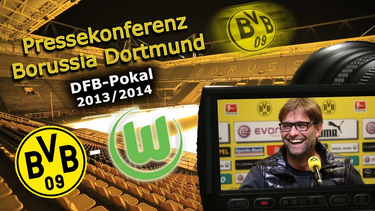BVB Pressekonferenz vom 14. April 2014 vor dem DFB-Pokal Halbfinale zwischen Borussia Dortmund und dem VfL Wolfsburg