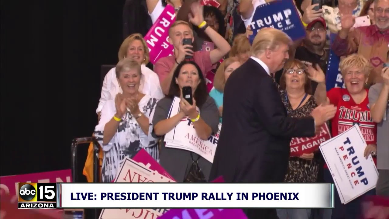 WALKS OUT! President Trump Takes Stage To