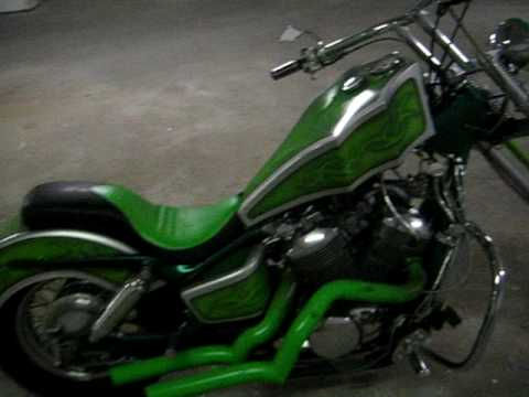 motorcycle honda shadow ace  chopper    kind chop youtube