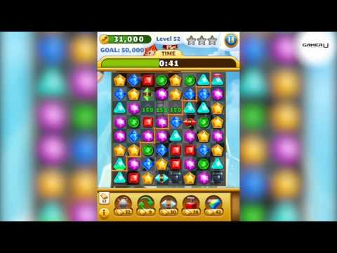 Jewel Mania - How to Pass Level 52 with commentary