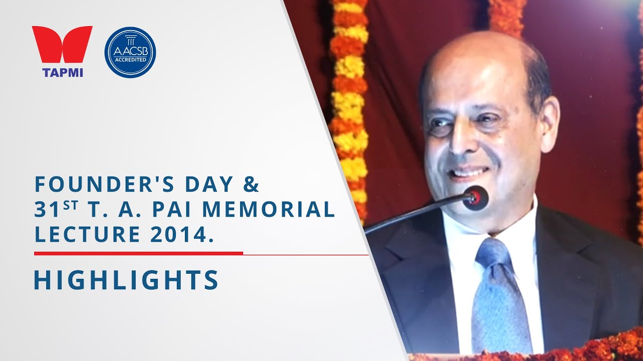 TAPMI'S FOUNDER'S DAY 2014 - HIGHLIGHTS