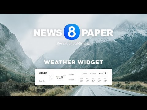 Newspaper 8 - Bring Weather On Your WordPress Website With A Beautiful Widget