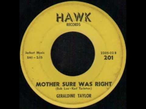 GERALDINE TAYLOR   MOTHER SURE WAS RIGHT   HAWK 201