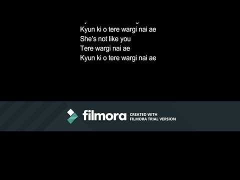 Raftaar - Tere Wargi Nai Ae  lyrical video...