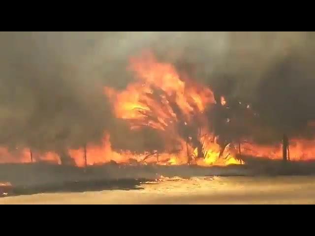 Incendio en La Calera