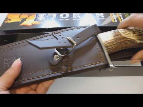 Joker Verraco León Hand Carved Hunting Knife CT42