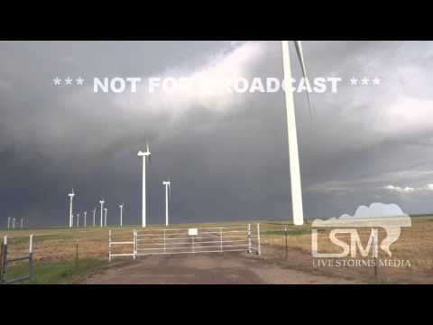 5/21/14 Limon, CO; Wind Turbines Rainbows Storm Background *Logan Poole, Gary Schmitt HD*