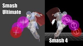 Smash 4 Marth Vs Smash Ultimate Marth Fair And Bair Hit Box Comparison [ Super Smash Bros Ultimate ]