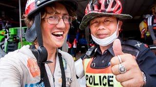 Police Escort Through Thailand Town! [Ep.6]