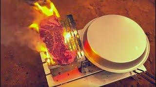 Firebox Stove Steak & Sauté Of Garlic Vegetables & Mushrooms / Weekend In The Desert!