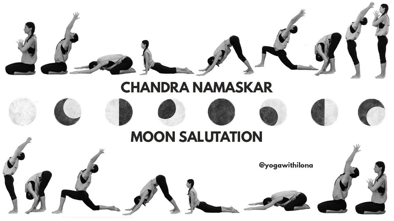 Chandra Namaskar Moon Salutations Yoga With Ilona
