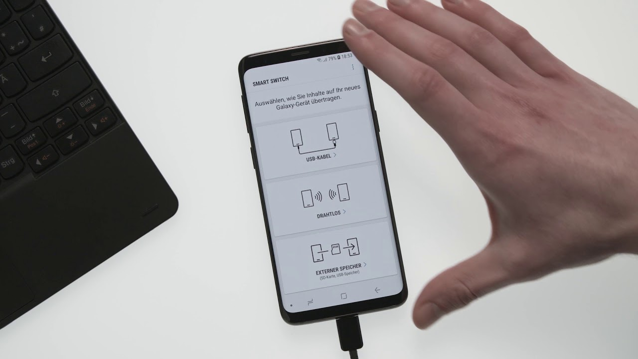 Samsung Galaxy S7 Edge Mit Galaxy S9 Synchronisieren