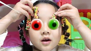 Dice Cube Candy Treasure 수지의 주사위 껌 지구젤리 눈알젤리 보물찾기 숨바꼭질 장난감 놀이 Littlejoy