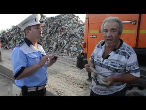 Poliţia locală intervine la haldina de gunoi