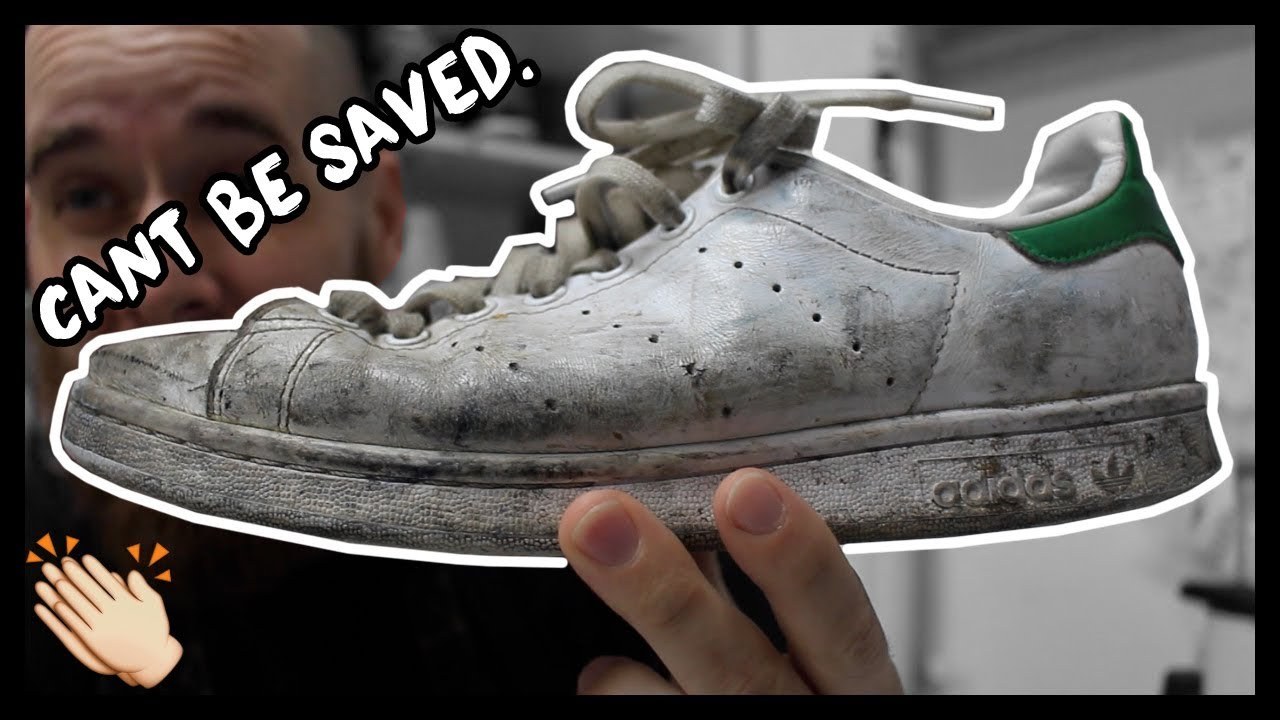 CLEANING FILTHY SNEAKERS FAIL!!! STAN