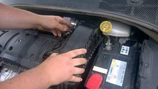 Замена воздушного фильтра Citroen C-elusee и Peugeot 301