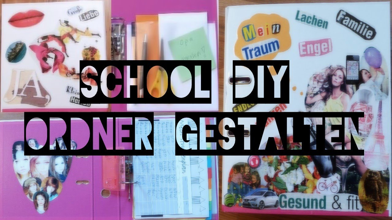 school diy ordner gestalten organisation mehr youtube. Black Bedroom Furniture Sets. Home Design Ideas