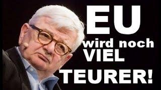 Joschka Fischer : EU wird noch VIEL TEURER!