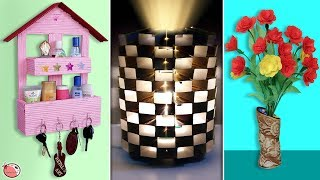 11 Best DIY Room Decor & Organization Idea Out Of Waste Materials !!!