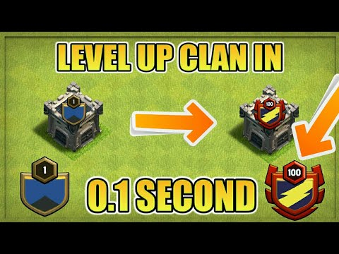 CLAN LEVEL 1 TO 100 IN 0.1 SECOND | HOW 😲? | DEVELOPER BUILD