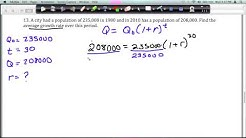 Unit 3: Average Growth Rate