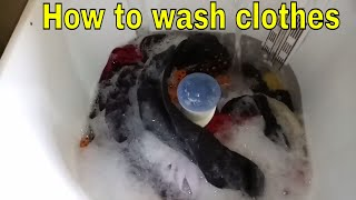 HOW TO WASH CLOTHES IN SEMI-AUTOMATIC WASHING MACHINE -  WHIRLPOOL WASHING MACHINE 6.0 KG
