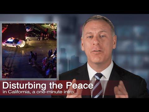 Los Angeles Disturbing The Peace Criminal Defense, Kraut Law Group