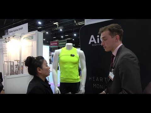 Smart T-shirt with heart rate monitor by AiQ