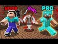 Minecraft NOOB vs PRO : SCARY GIRL CHALLENGE IN MINECRAFT! ANIMATION!