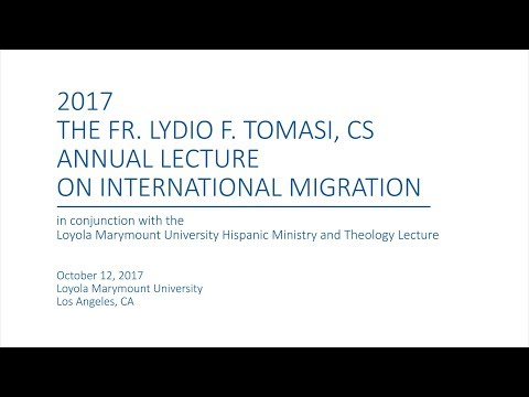 2017 Fr. Lydio F. Tomasi Lecture: Dr. Maria Clara Bingemer