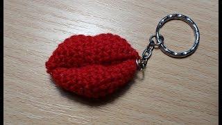 Губы крючком или поцелуйчики-видео урок вязание крючком.