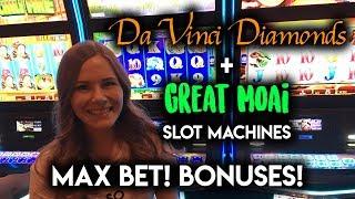 max-bet-bonus-great-moaii-and-davinci-diamonds-slot-machines-gambling-fun