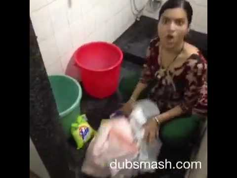 Mimicry of Rajpal Yadav by house wife / lady (comedy video)
