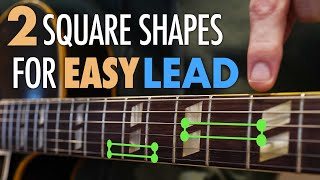 Get started playing lead guitar with these 2 easy square shapes. Not sure where to start? Start here
