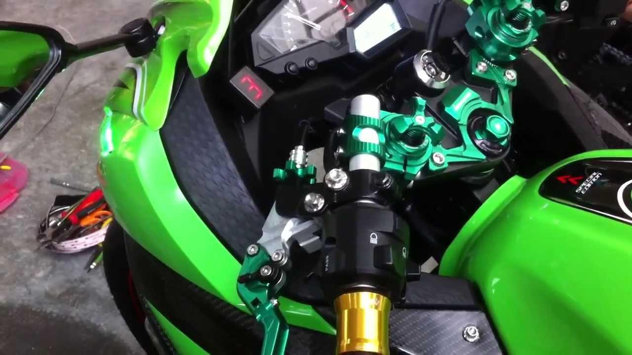 ไฟบอกเกียร์ ninja300 dg gear indicator - youtube